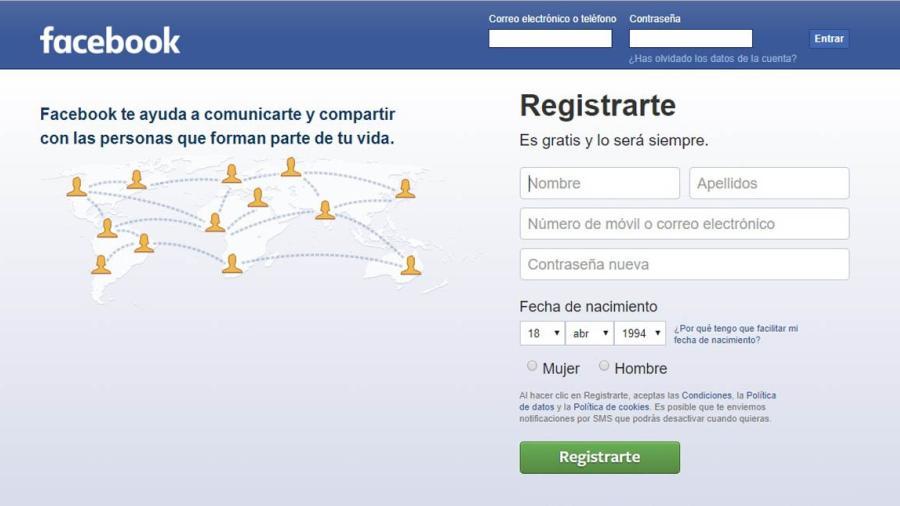 Facebook recopiló 1.5 millones de correos electrónicos de usuarios