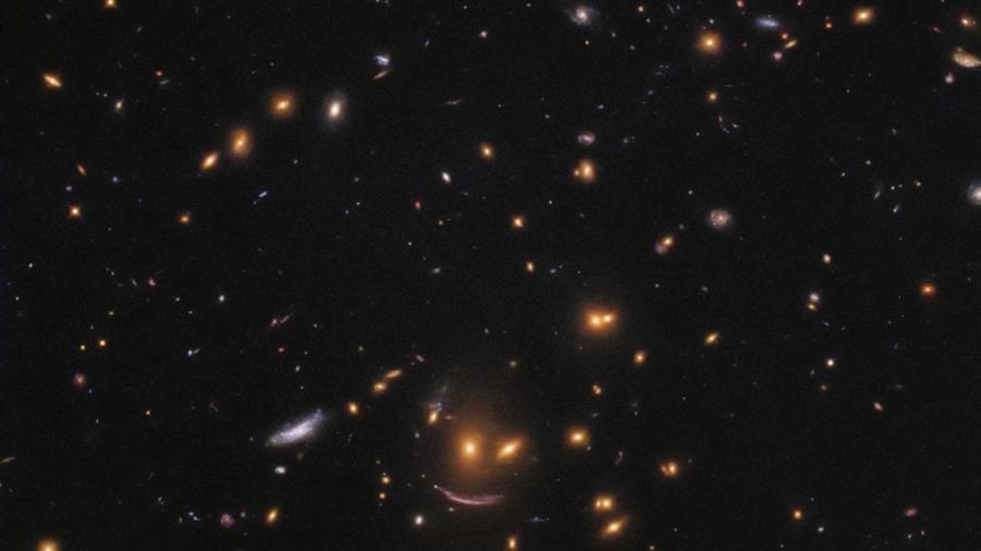 ¡Una cara sonriente en el espacio!