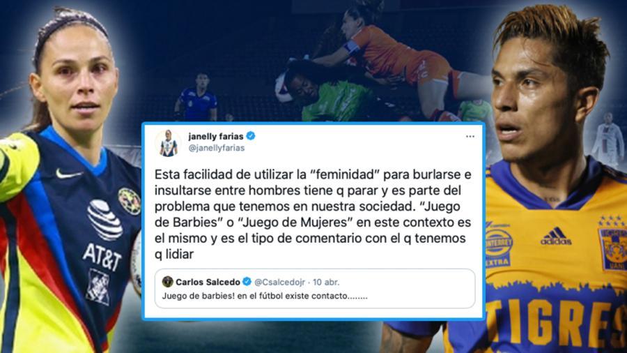 Janelly Farías responde al polémico tuit de Carlos Salcedo