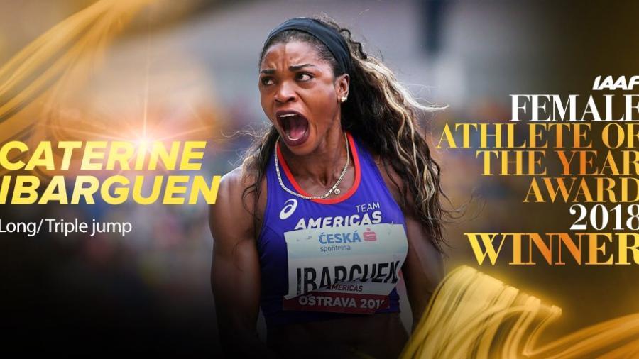 Caterine Ibargüen es la mejor atleta femenina del 2018