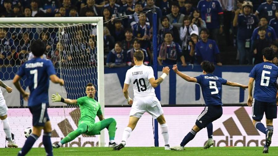 Japón vence 4-3 a Uruguay en partido amistoso