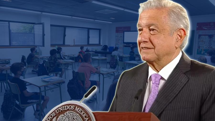 Pide López Obrador cuidar salud emocional de niños con el regreso a clases presenciales