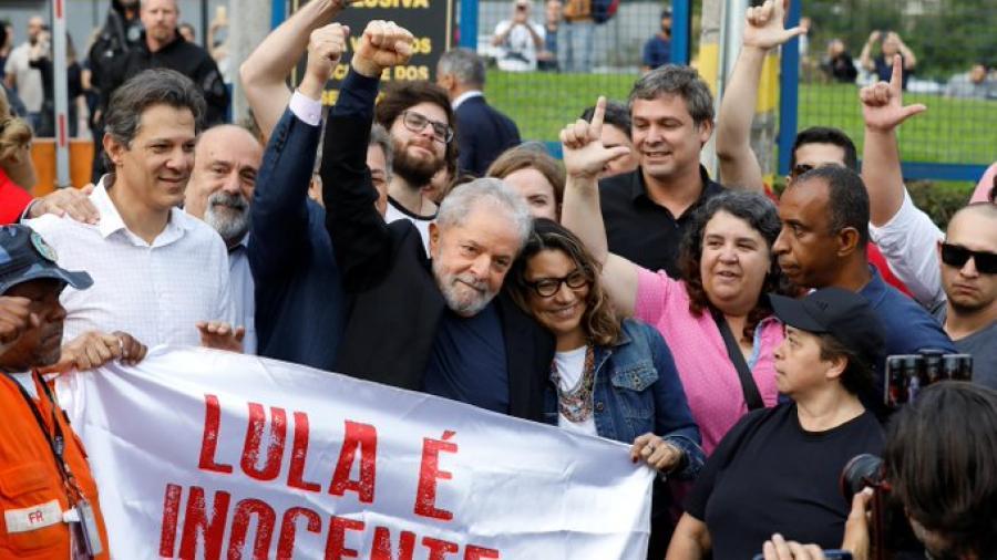 Lula da Silva sale de prisión tras 19 meses encarcelado