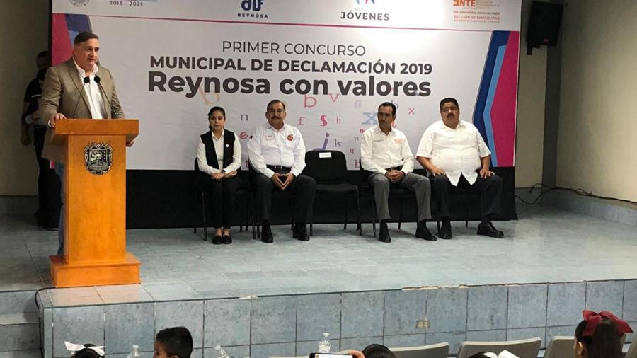 Celebran Primer Concurso de Declamación ''Reynosa con Valores''