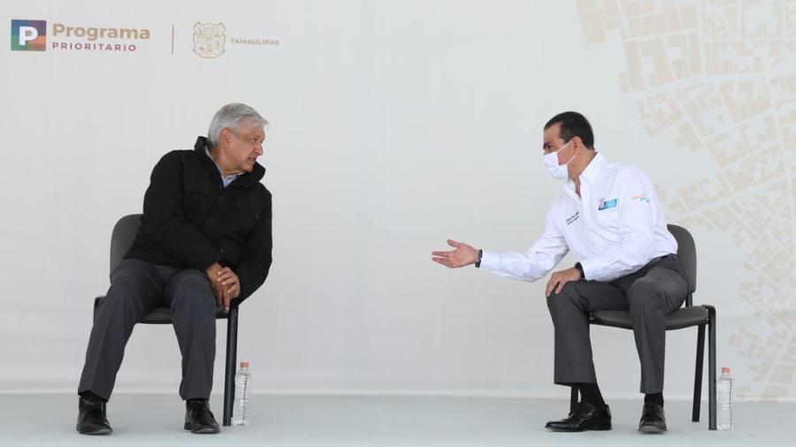 Argumenta Enrique Rivas a AMLO el porqué apostar a Nuevo Laredo