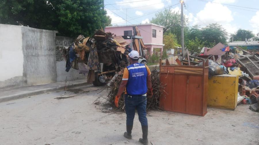 Gobierno de Tamaulipas refuerza ayuda humanitaria en colonias de Reynosa para apoyar a damnificados