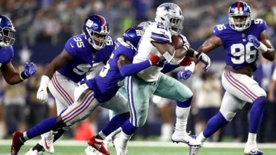 """Vaqueros vence 20-13 a Gigantes en """"Domingo por la Noche"""" de NFL"""