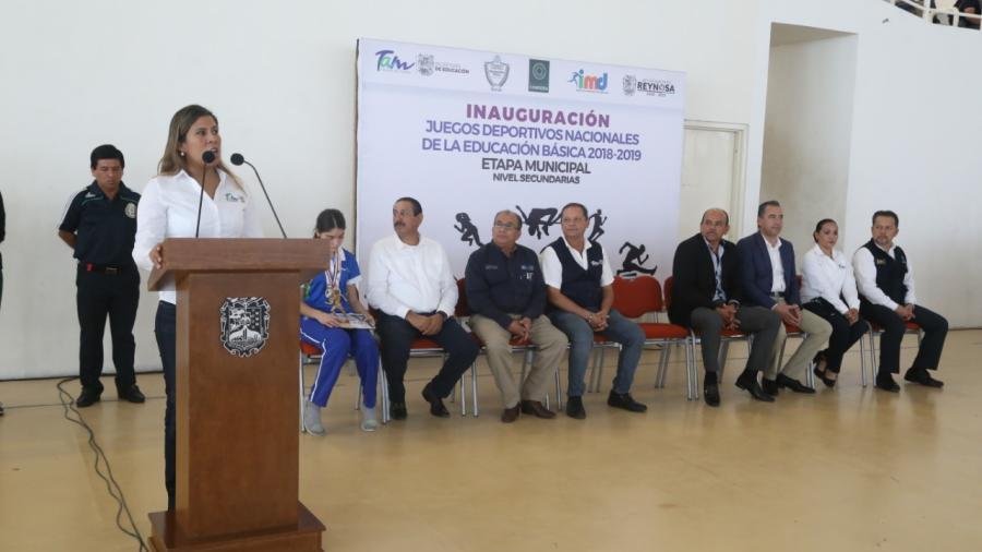 Inauguran Juegos Deportivos de Nivel Secundaria