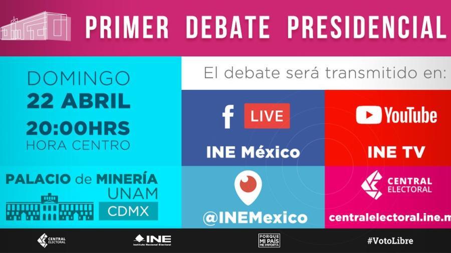 Aprueban cambios en debates presidenciales