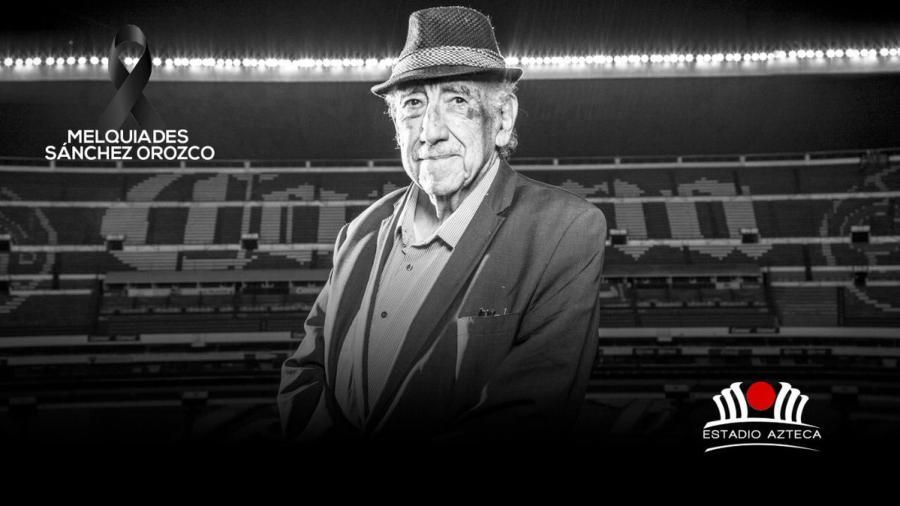 """Fallece a los 90 años Melquiades Sánchez """"La voz del Estadio Azteca"""""""