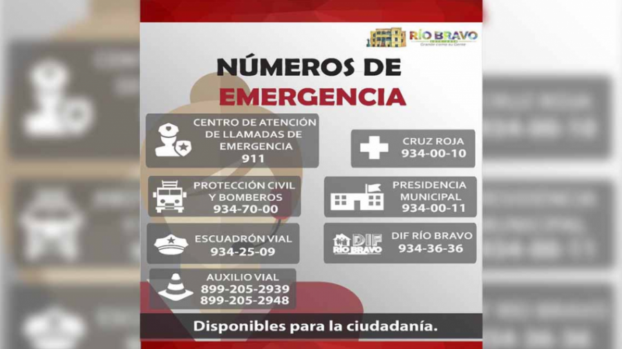 Ayuntamiento pone a disponibilidad números de emergencia