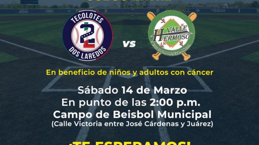 Invitan a juego de béisbol en apoyo a niños y adultos con cáncer