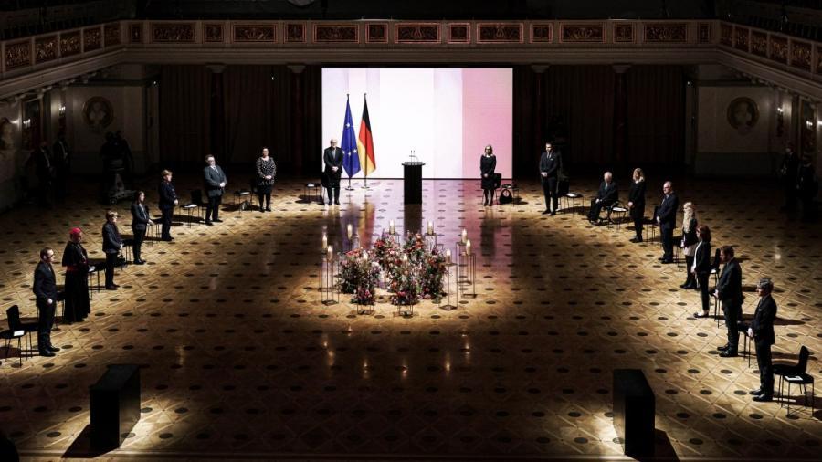 Alemania realiza homenaje a muertos por coronavirus
