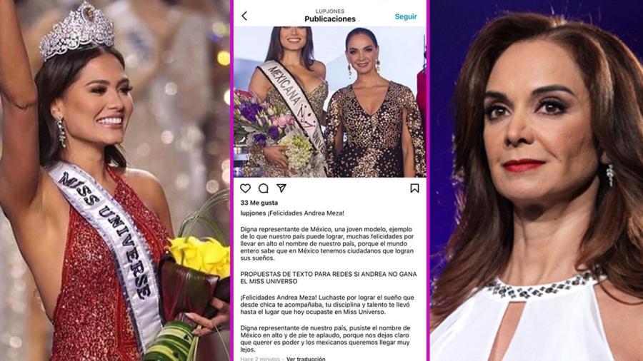 El error de Lupita Jones al felicitar a Andrea Meza por Instagram