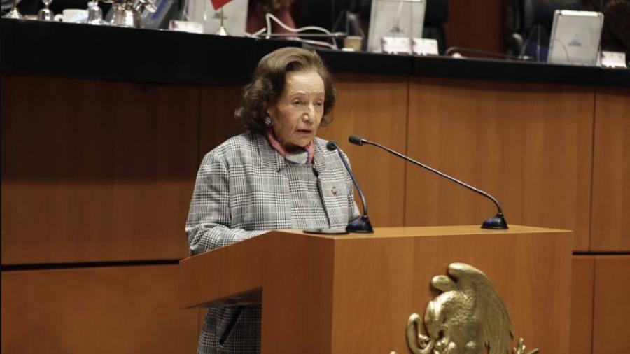 Entrega Senado Medalla Belisario Domínguez a la legisladora Ifigenia Martínez