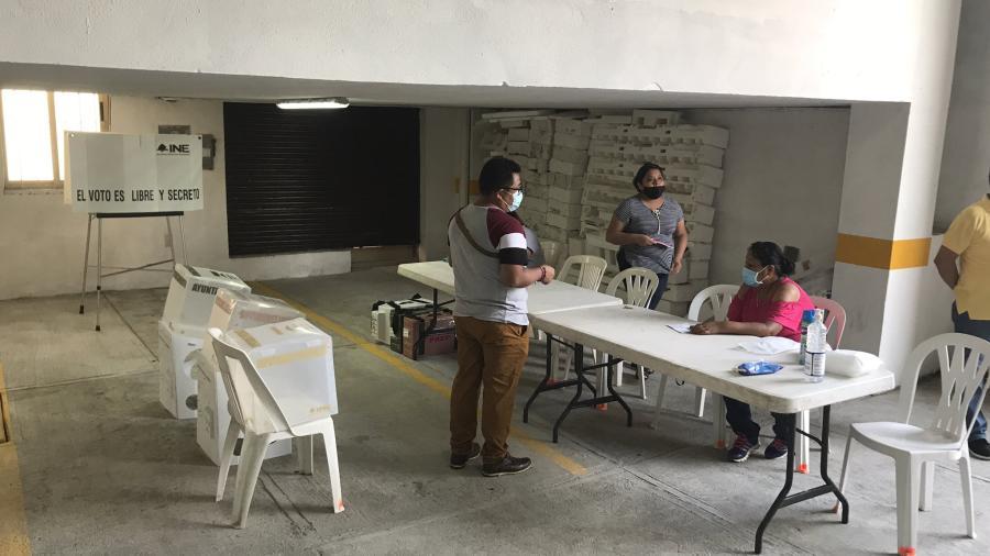 Tampico reporta apertura tardía de casillas