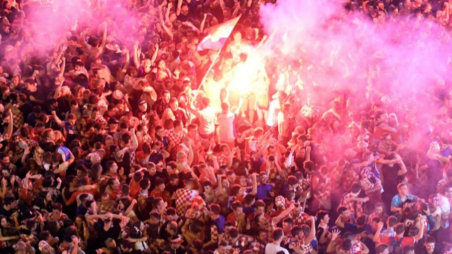 Croacia vive la euforia de estar en su primer final de Copa del Mundo