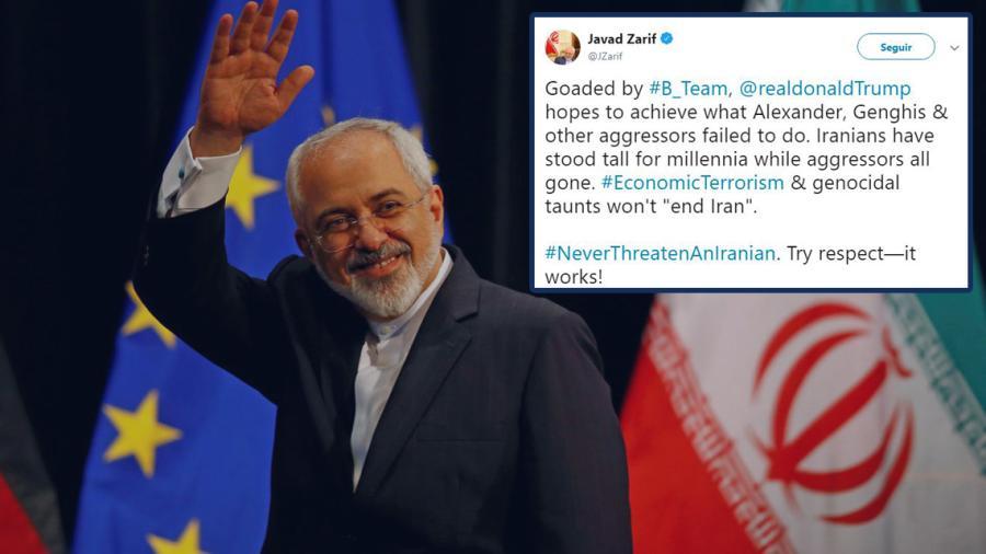 Nunca se atrevan a amenazar a un iraní: Mohammad Javad Zarif