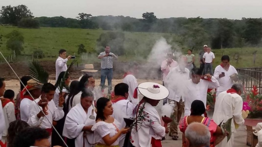 Realizan ritual de anuencia para Tren Maya