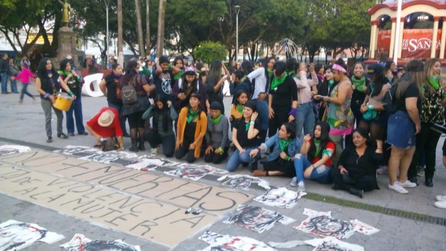 """Corean """"El violador eres tú"""" en Matamoros"""