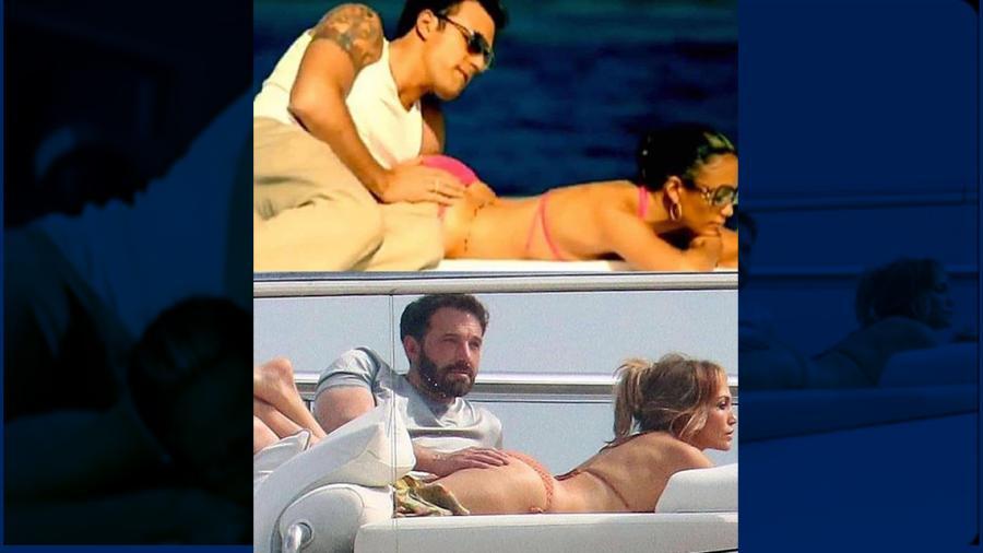 JLo y Ben Affleck recrean famosa pose