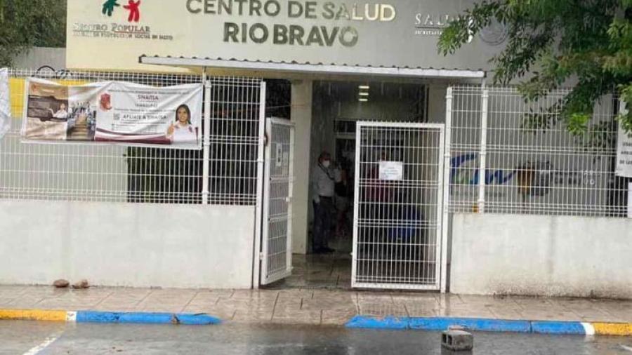 Lluvias dejan daños en el centro de salud de Río Bravo