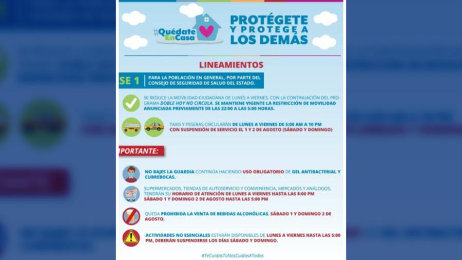 Nuevas disposiciones para transporte público y comercio en Reynosa