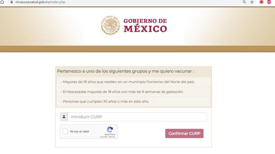 Abren registro de vacunación contra el COVID-19 para personas de entre 30 y 39 años