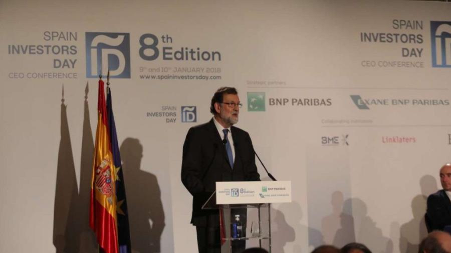 Confía Rajoy que economía española crezca 2.5% ciento hasta 2020