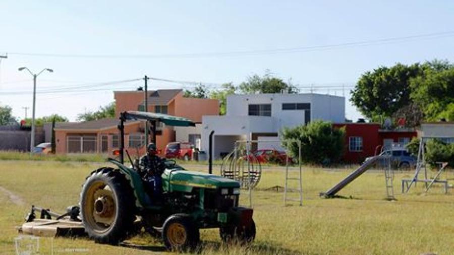 Gobierno comienza con mantenimiento de áreas verdes