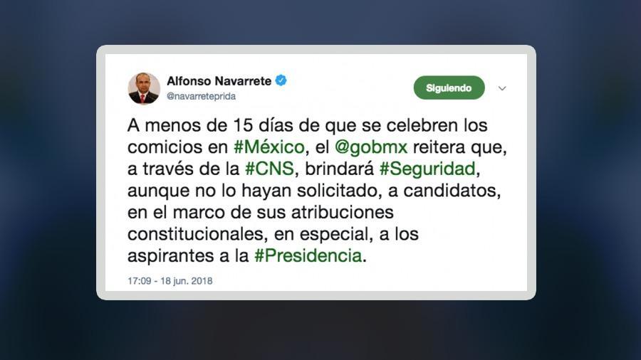 Se protegerá a candidatos lo pidan o no: Navarrete Prida