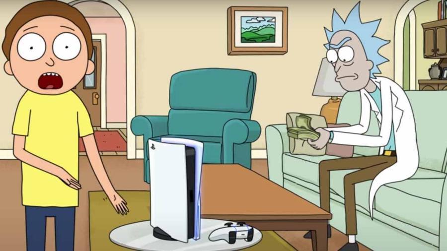 Crean comercial de Rick y Morty para promocionar el PS5