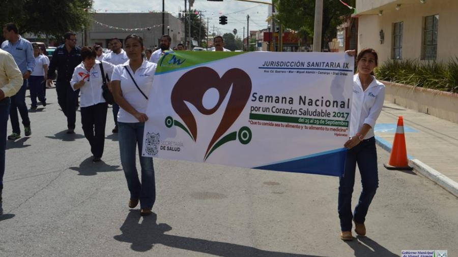 """Inicia semana nacional """"Corazón Saludable"""" en Miguel Alemán"""