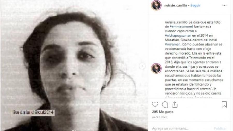 """Revelan fotografía de Emma Coronel poco después de la captura de """"El Chapo"""""""