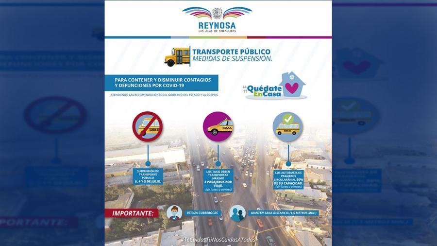 Reducen circulación y no habrá transporte público sábado y domingo por COVID-19