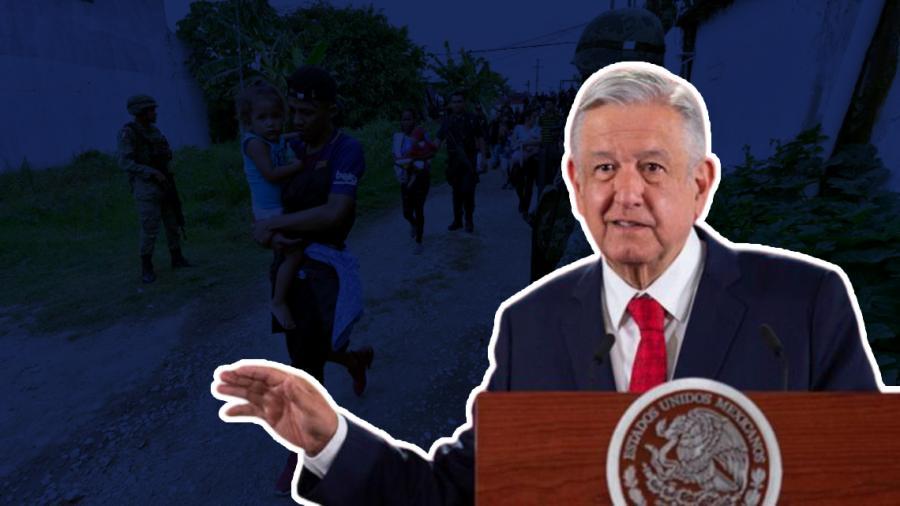 """""""Hay absoluto respeto a los derechos humanos"""", asegura AMLO sobre trato a migrantes"""