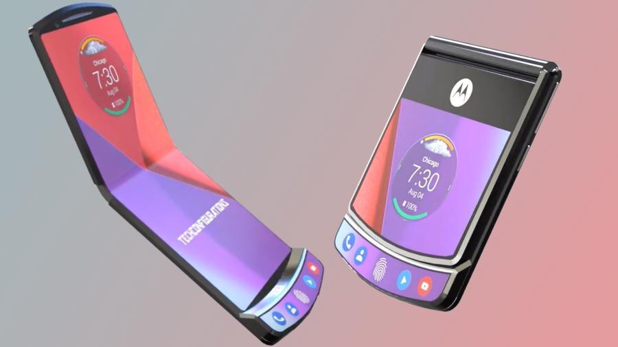 Así se doblaría el Motorola Razr plegable