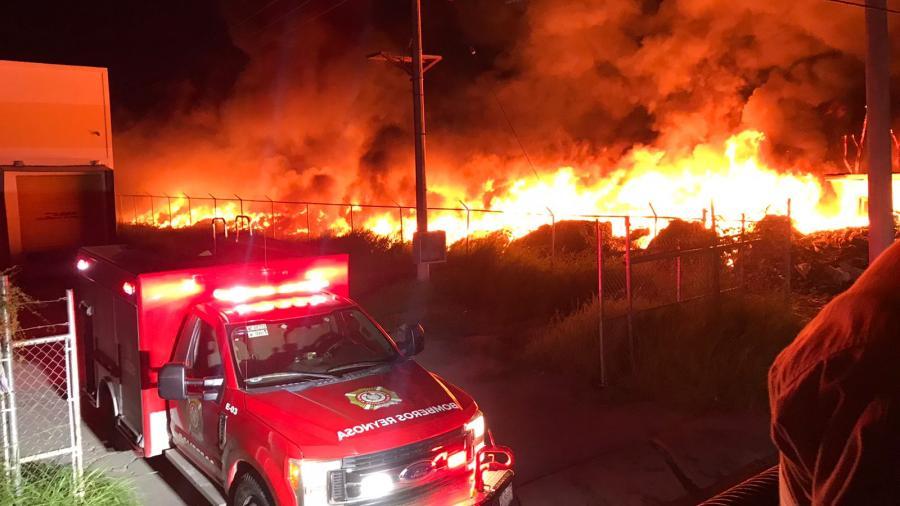 Incendio en Parque Industrial Reynosa