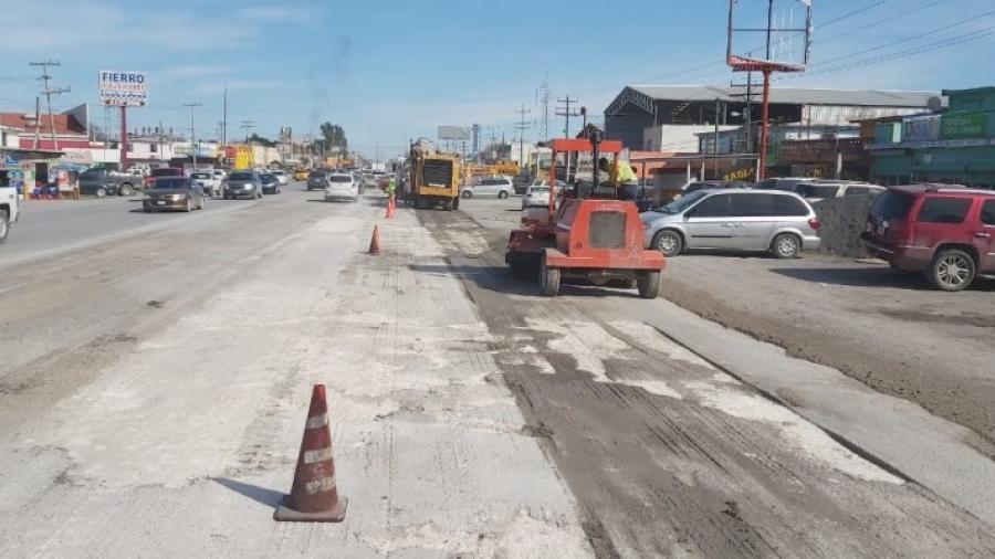 Avanzan trabajos de rehabilitación de pavimento en el Sendero Nacional
