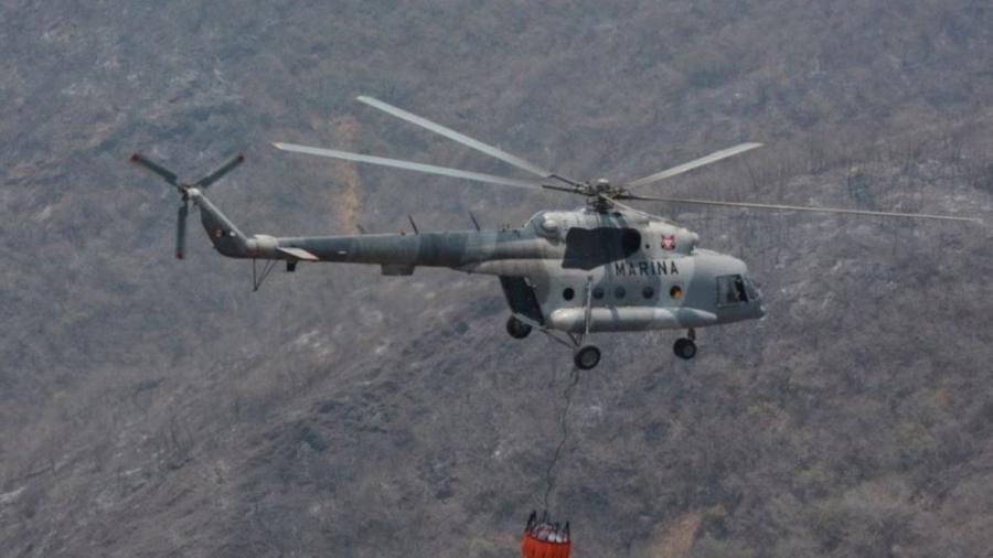Encuentran cuerpos de tripulantes de helicóptero de la Marina desplomado en Querétaro