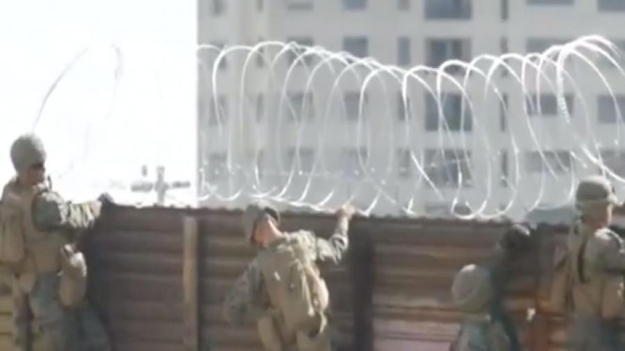 Tijuana se protege con alambre de púas por delincuencia