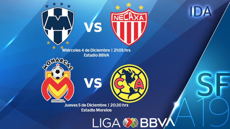 Listos los horarios de Semifinales Liga BBVA MX