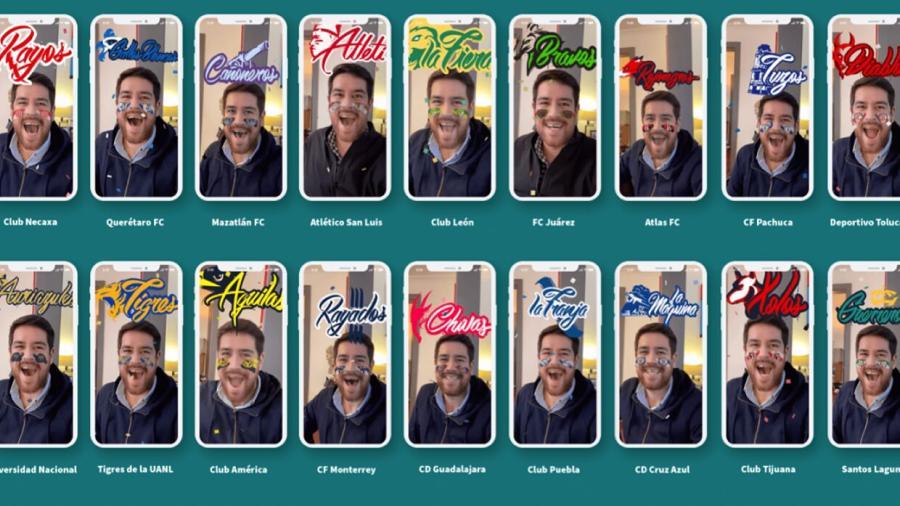 Facebook y la Liga MX lanzan 36 filtros para apoyar a tu equipo en redes
