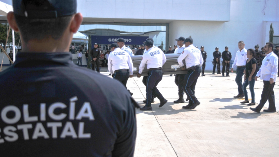 Realizan ceremonia de cuerpo presente de Policía Estatal