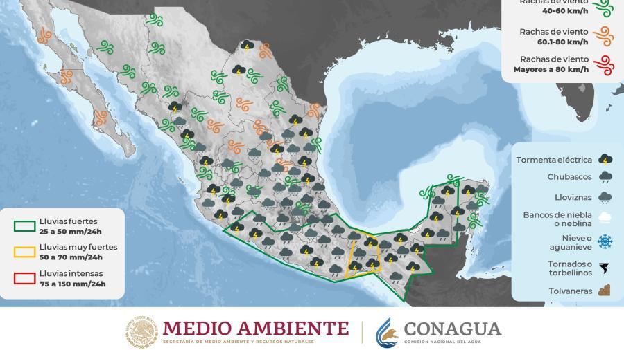 Prevén fin de semana lluvioso por centro y sur de Tamaulipas