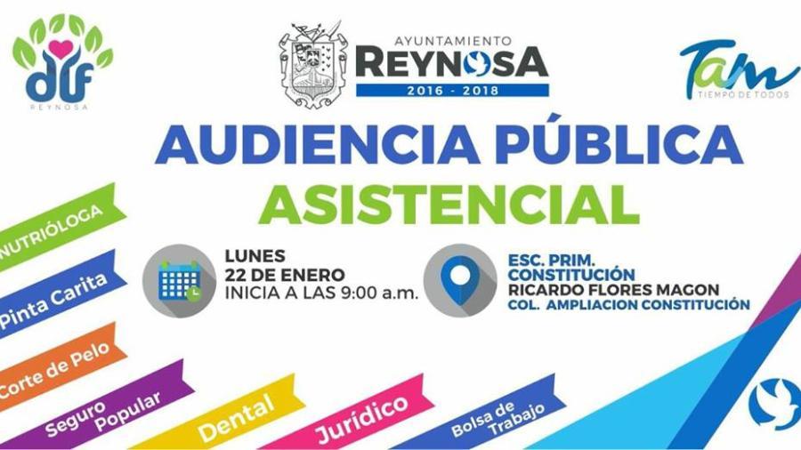 """Invitan Ayuntamiento a """"Audiencia Pública Asistencial"""""""