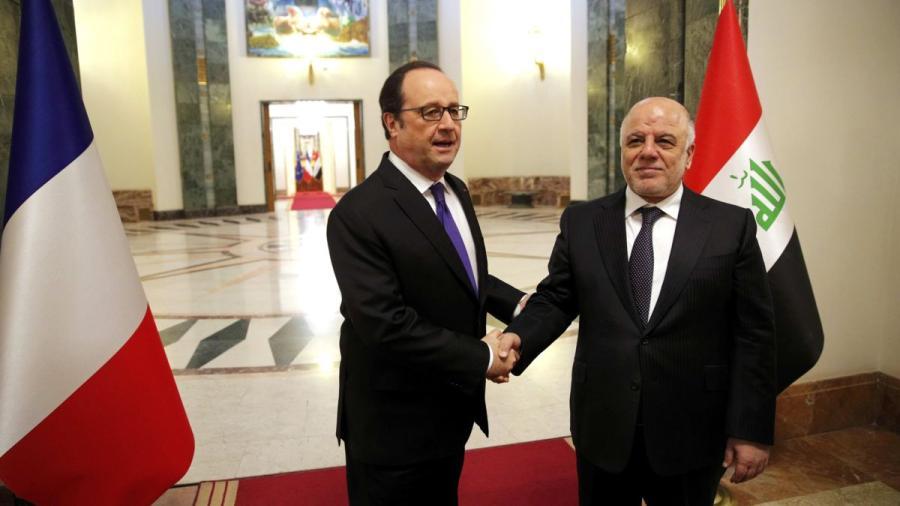 Hollande visita a tropas francesas en Irak