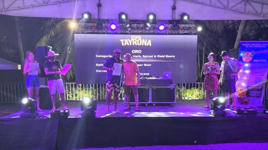Conquista cerverza tamaulipeca medalla de oro en Colombia