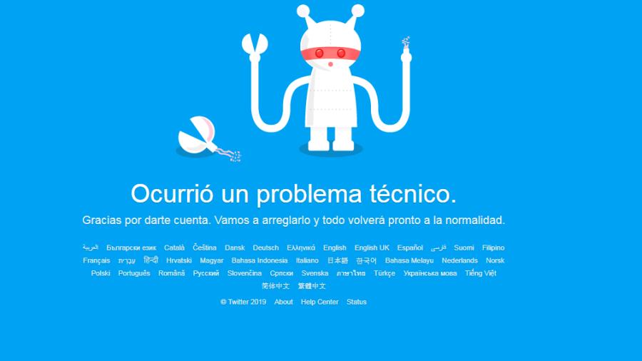 Reportan la caída de Twitter