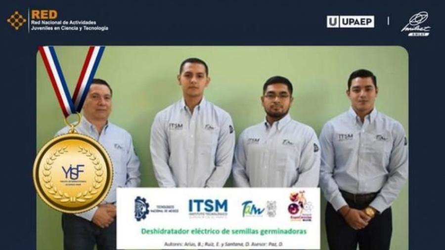 Alumnos del tecnológico de El Mante ganan medalla de oro en Ciencias de la Ingeniería Nivel Universitario en Turquía